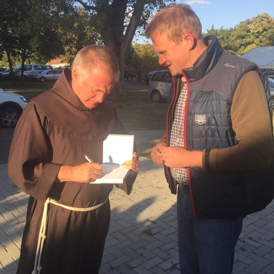 Sipos Gazda - találkozás Böjte atyával