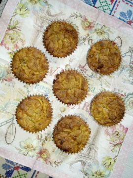 Almás diós muffin