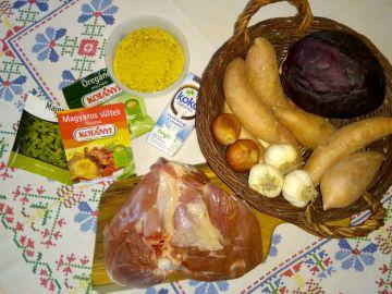 Sült pulykacomb batáta pürével és lilakáposztával - Hozzávalók