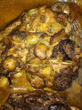 Sült pulykacomb batáta pürével és lilakáposztával