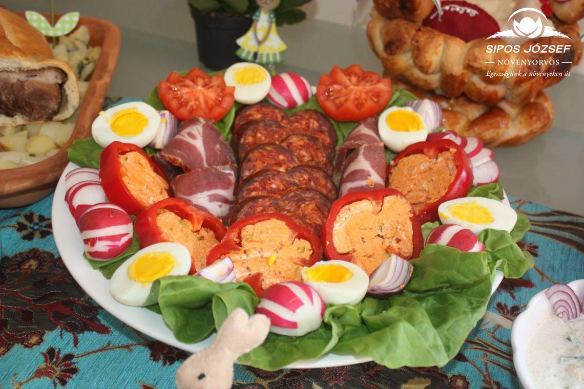Vegyes előétel – kínáló tál húsvétra