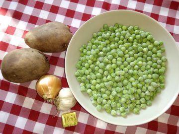 Zöldborsókrém leves - Hozzávalók