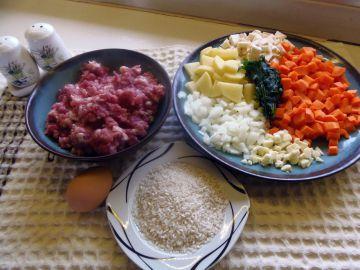 Húsgombóc leves - Hozzávalók