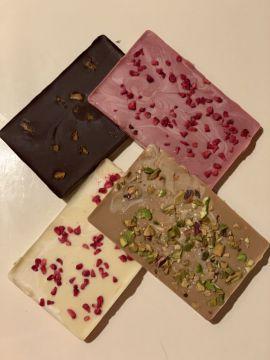 Szilikonpárnába öntött belga csokoládé