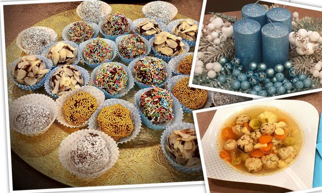 Trüffel golyók és egyéb finomságok advent második vasárnapi menüjében