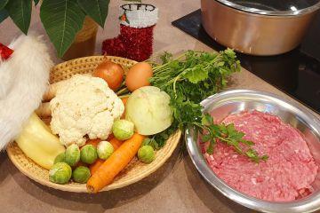 Ünnepi húsgombóc leves - Hozzávalók