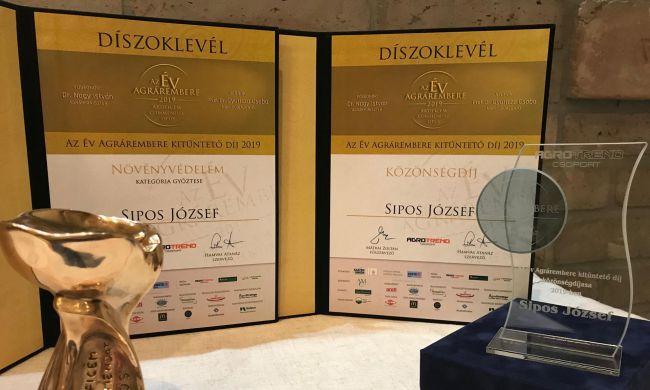 Két díjat is átvehettem Az Év Agrárembere 2019-es Gálán